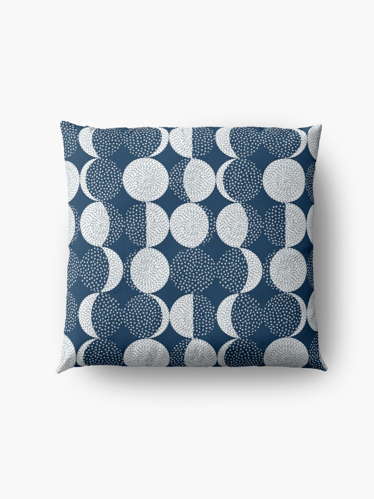 Alternate view of Moon Phases / repeat pattern Floor Pillow