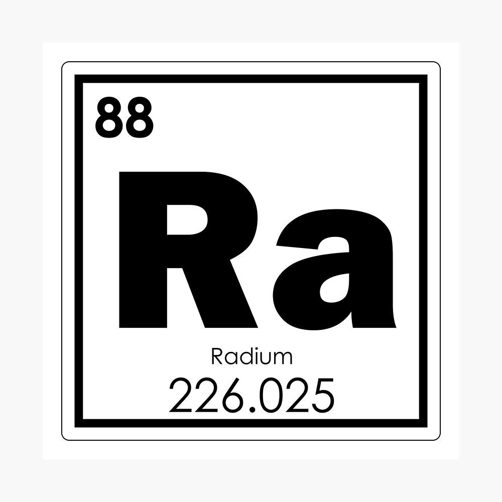 Póster «Elemento químico del radio» de tony4urban   Redbubble