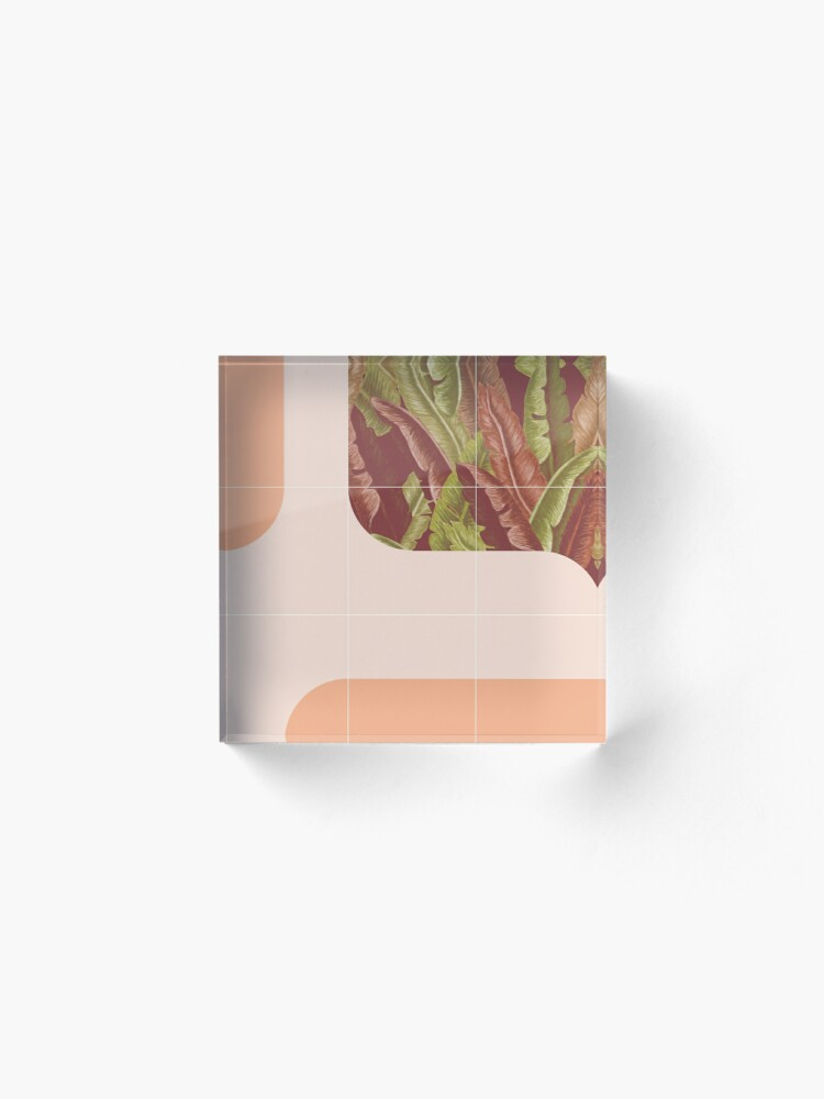 Alternate view of Mid-Century Tropical Way #redbubble #tropical Acrylic Block