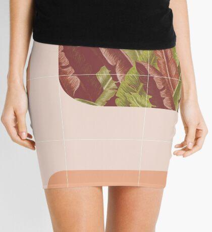 Mid-Century Tropical Way #redbubble #tropical Mini Skirt