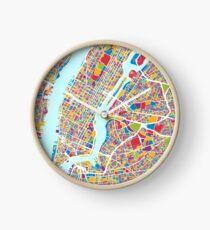 Reloj New York City Street Map