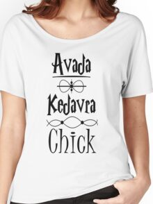 Avada Kedavra Chick Women's Relaxed Fit T-Shirt