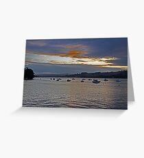 Sunset over Devon Valley Greeting Card