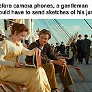 Before camera phones, a gentleman would have to send sketches of his junk by memeshirtees