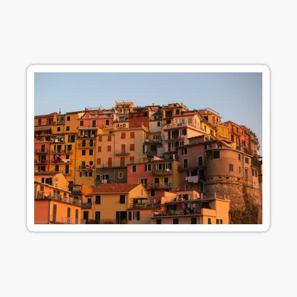 Stadtbild von Cinque Terre Sticker