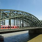 Hohenzollern Bridge in Cologne Germany by Richie Wessen