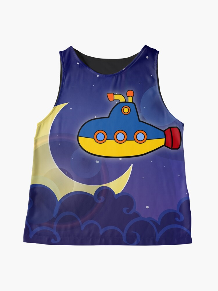 Alternate view of Submarine in Space Sleeveless Top