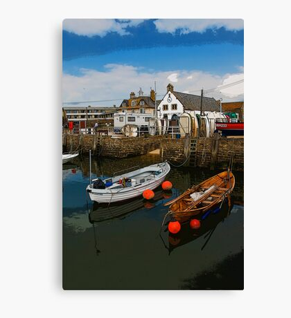 West Bay Quay Side Canvas Print