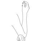 Hände Strichzeichnung - Daya von TheColourStudy