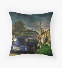 Converted Jeep Throw Pillow