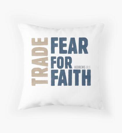 Trade fear for faith - Hebrews 11:1 Floor Pillow