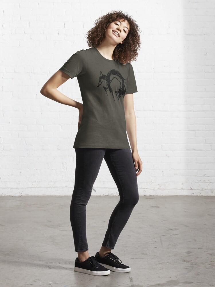 Alternate view of Foxhound V2 (Black) Essential T-Shirt