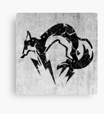 Foxhound V2 (Black) Canvas Print
