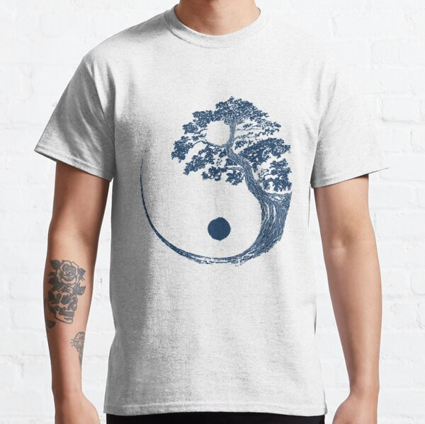 Yin Yang Bonsai Tree Japanese Buddhist Zen Classic T-Shirt