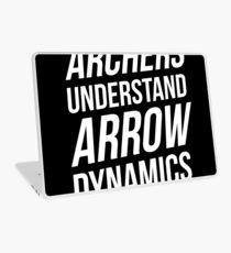 Archers understand arrow dynamics Laptop Skin