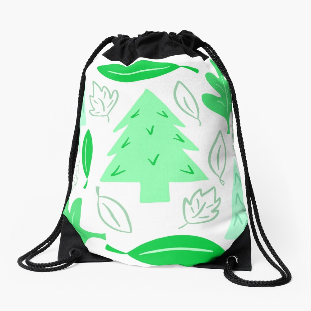 Off To The Park Drawstring Bag