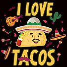 Savvy Turtle I Love Tacos by SavvyTurtle