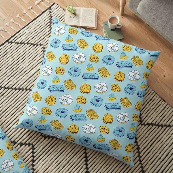 Blue Biscuits Floor Pillow