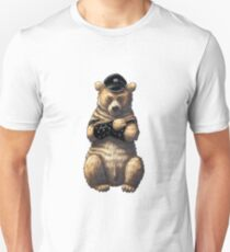 Bear Cartoon Character. Gay Bear Art. LGBT. Slim Fit T-Shirt