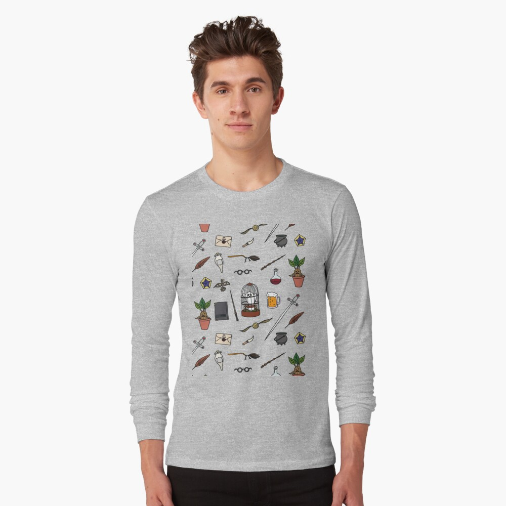 Owl and wand Long Sleeve T-Shirt
