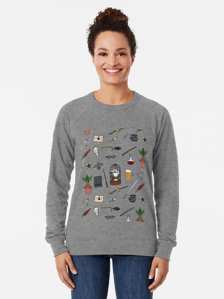 Alternate view of Owl and wand Lightweight Sweatshirt