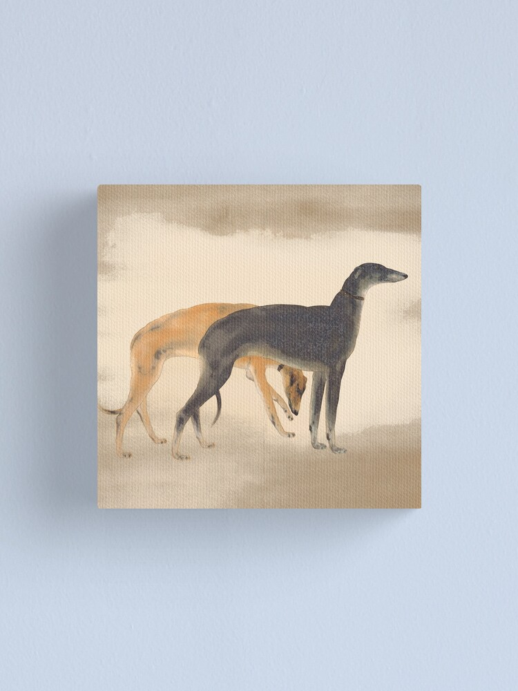 Alternate view of Two Greyhounds Canvas Print