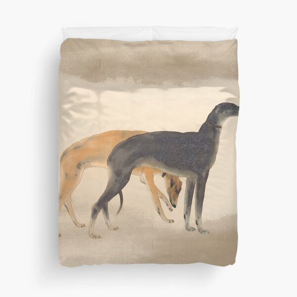 Two Greyhounds Duvet Cover
