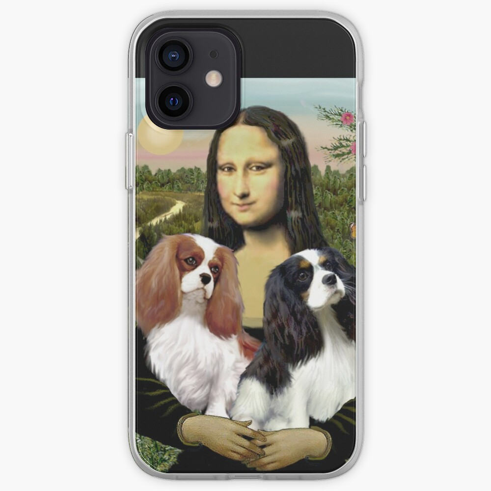 Mona Lisa and her Two Cavalier King Charles Spaniels iPhone Case & Cover