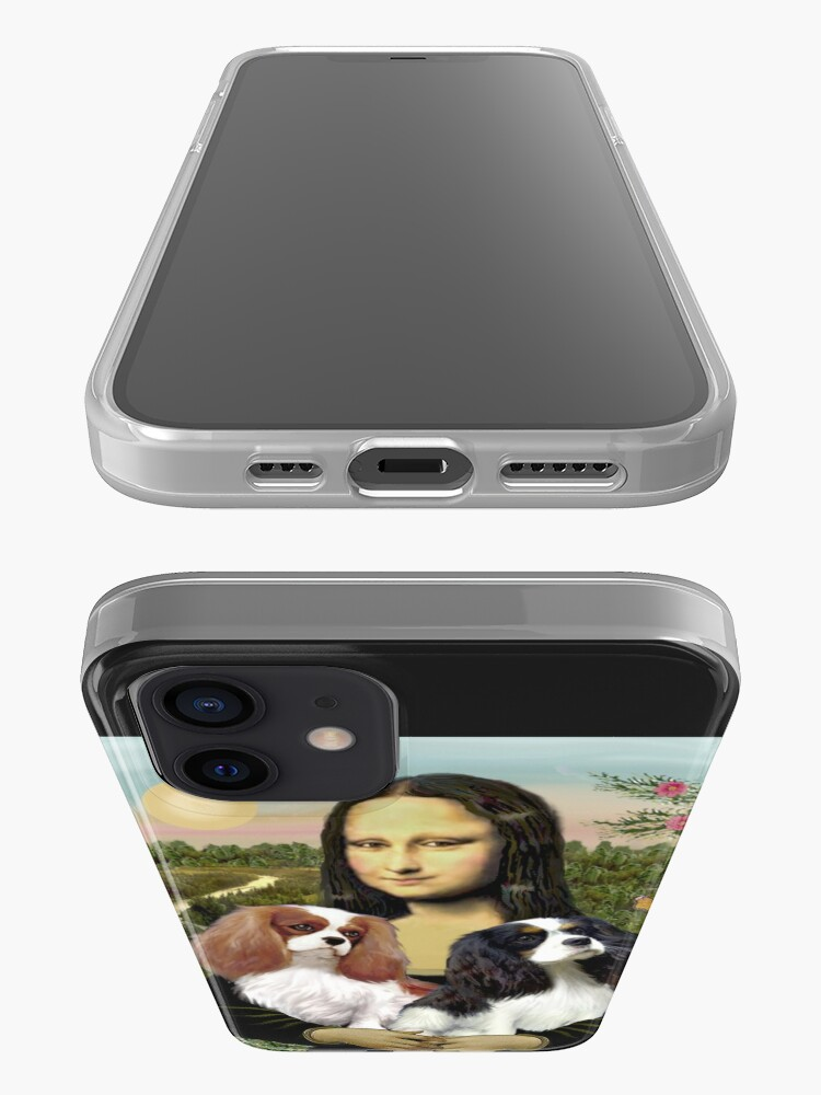 Alternate view of Mona Lisa and her Two Cavalier King Charles Spaniels iPhone Case & Cover