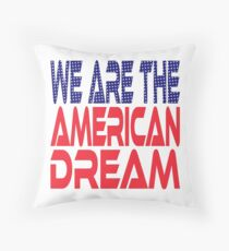 #OurPatriotism: We Are the American Dream by Onjena Yo Throw Pillow
