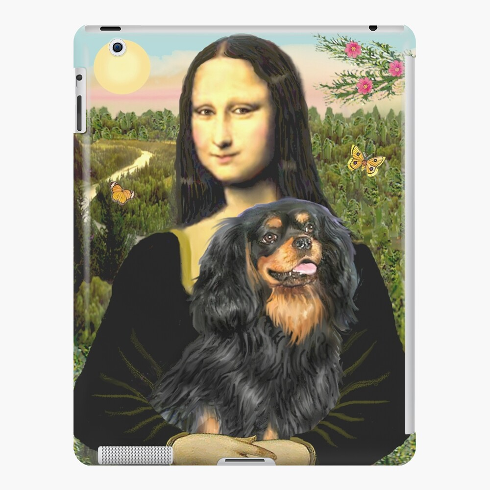 Mona Lisa and her Cavalier King Charles Spaniel (black and tan) iPad Case & Skin
