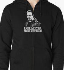 More Cowbell Tshirt 2 Zipped Hoodie