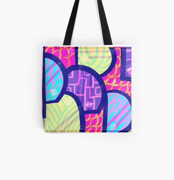 Groove Pattern All Over Print Tote Bag
