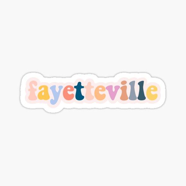 Fayetteville - Pastel Sticker