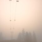 chairlift in morning mist, Mount Seymour by Christopher Barton