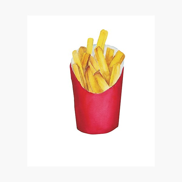 watercolor Fries painting Photographic Print
