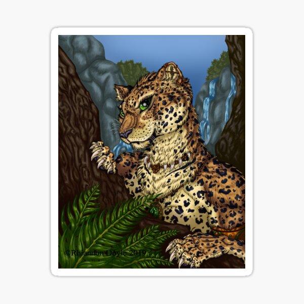 Mysterious Leopardess Sticker