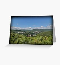 Jim Thorpe From Above Greeting Card