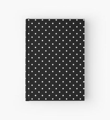 Negro punteado Cuaderno de tapa dura