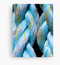 Blue with Yellow Canvas Print