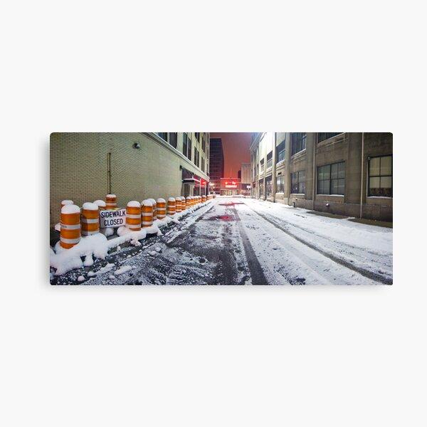 SIDEWALK CLOSED - Rochester NY Canvas Print