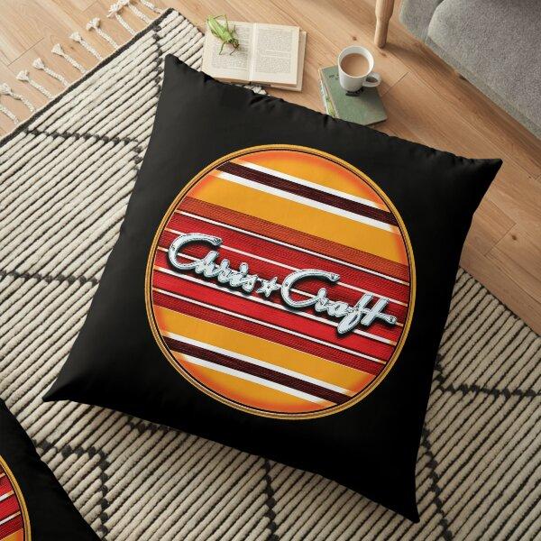 Chris Craft Vintage Wooden Boats Floor Pillow