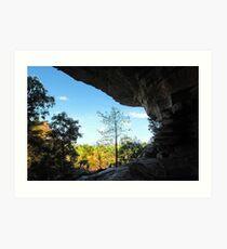 The overhang of Ubirr Rock Art Print