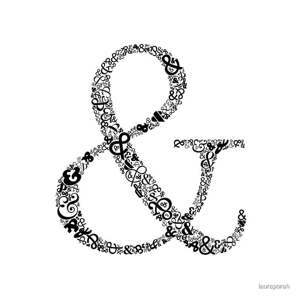 Ampersand Prints, Cards and Posters by lauraporah