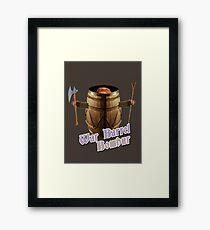 War Barrel Bombur Framed Print