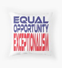 #OurPatriotism: Equal Opportunity Exceptionalism by Onjena Yo Throw Pillow