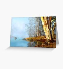 Into the Misty River Morn Greeting Card