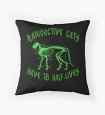 Radioactive Cats Throw Pillow