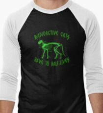 Radioactive Cats Men's Baseball ¾ T-Shirt
