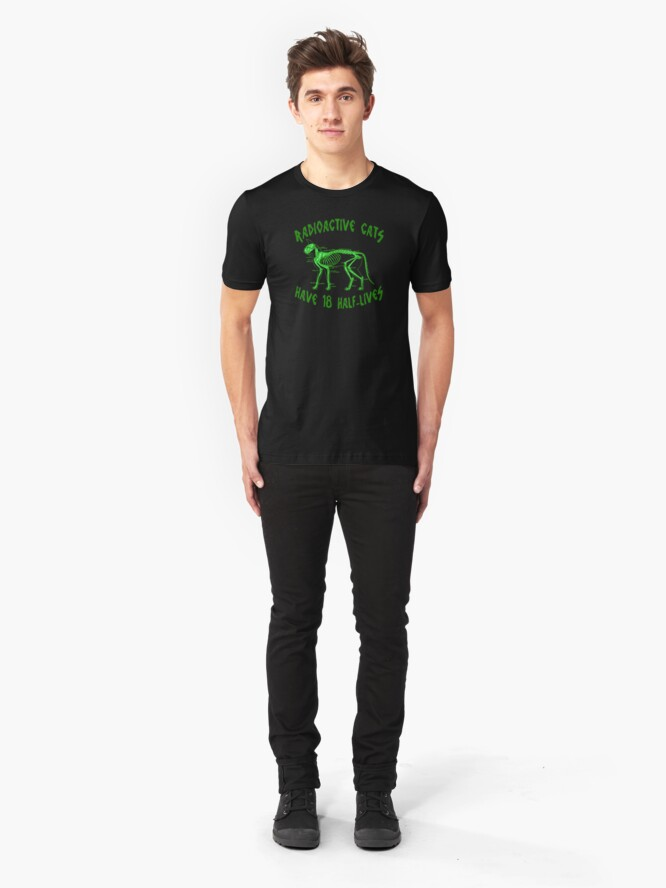 Alternate view of Radioactive Cats Slim Fit T-Shirt